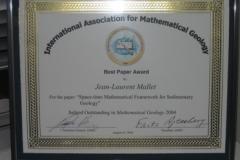 2004: Mathematical Geology Best Paper Award