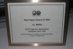 1994 SPE Computer Application Best Paper Award